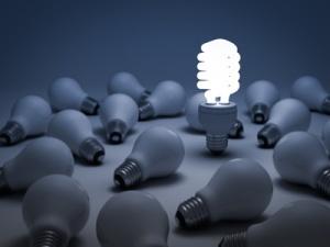 Eco energy saving light bulb, the different concept